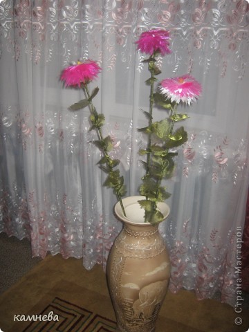 Цветы и листья выжигала из органзы,выжигательным прибором. фото 2