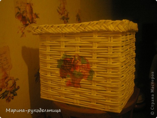 Плетеная коробочка фото 1