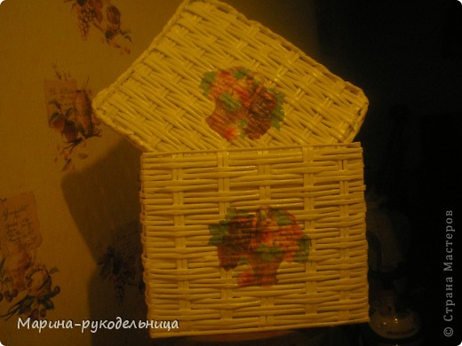 Плетеная коробочка фото 2