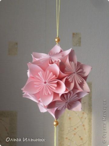 Кусудама цветочная фото 1