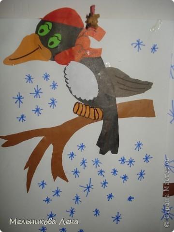 Птицы зимы-дятел фото 3