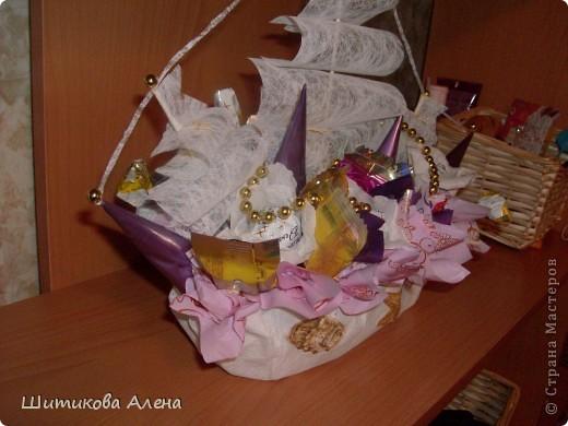 Вот и мой корабль  из конфет!! фото 2