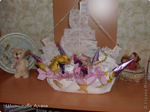 Вот и мой корабль  из конфет!! фото 4