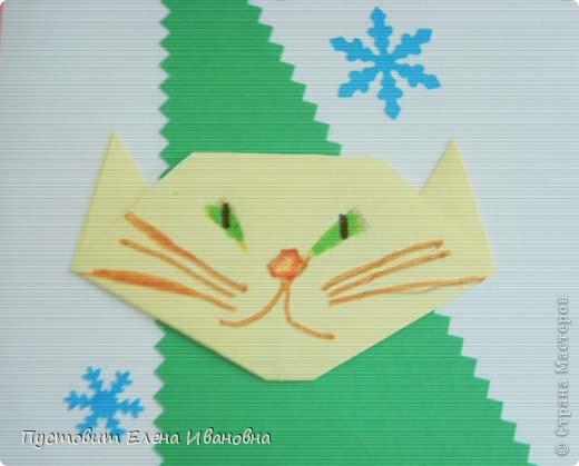 Вот решили попробовать...Открытки с элементами оригами.Авторы Адам Оздоев,Коля Колпаков,Даниил Прядкин и Олег Есипенко. фото 6