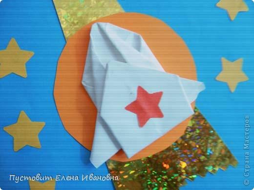 Вот решили попробовать...Открытки с элементами оригами.Авторы Адам Оздоев,Коля Колпаков,Даниил Прядкин и Олег Есипенко. фото 3