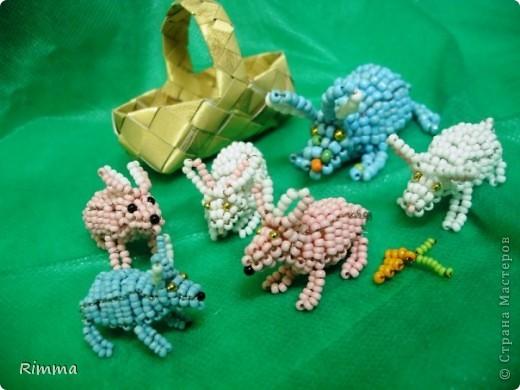 Бисерные кролики.