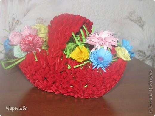 Корзиночка с цветами фото 4
