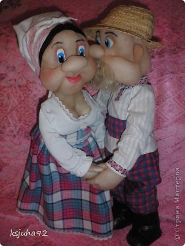 """Ось під хороший настрій в мене з""""явилися такі собі Семен і Одарочка. Дід в уяві малювався молодим козаком, але вийшов трохи старшим, а бабуля вийшла """"...ягодка опять..."""". фото 2"""