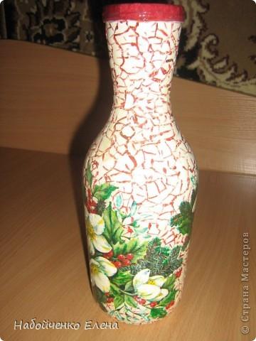 Очень красивая осталась бутылочка, я решила её украсить, долго думала как и нашла в этом месте  http://stranamasterov.ru/node/7779?c=favorite фото 2
