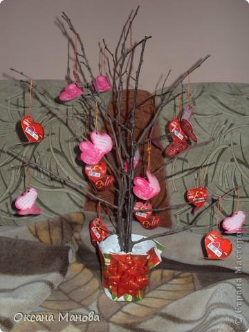 Дерево с валентинками. фото 2