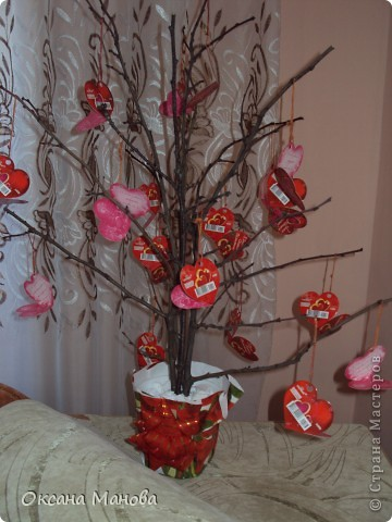 Дерево с валентинками. фото 1