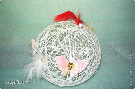 Делаю шар на подарок, ещё не совсем готов.. Жаль другие не сфоткала...   фото 1