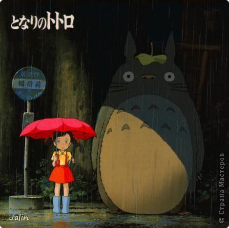 """Тоторо для маленьких любителе аниме. И не только для маленьких )) Этого малыша я вышила своей подруге на День рождения, она большой любитель аниме )   Тоторо - персонаж полнометражного аниме-фильма """"Мой сосед Тоторо"""", созданного японским мультипликатором Хаяо Миядзаки в 1988 году.   фото 6"""