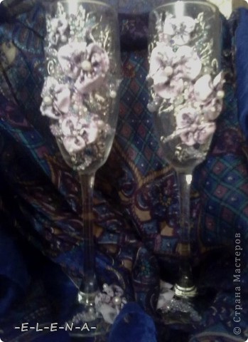 "Бокалы ""Лунные цветы"" фото 3"