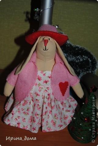 К праздникам шила и дарила кукол, вам судить как получились, но одариваемые остались довольны :)    На Новый год малышам-погодкам (девочке и мальчику) подарила зайчишек. фото 2
