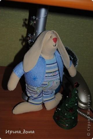 К праздникам шила и дарила кукол, вам судить как получились, но одариваемые остались довольны :)    На Новый год малышам-погодкам (девочке и мальчику) подарила зайчишек. фото 3