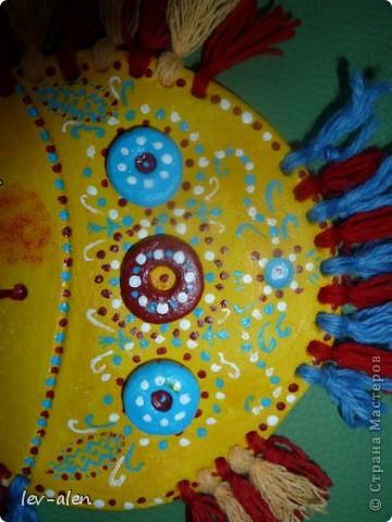 Мастер-класс Поделка изделие Лепка Роспись Рыбка с пушистыми плавниками + описание Краска Пряжа Тесто соленое фото 3