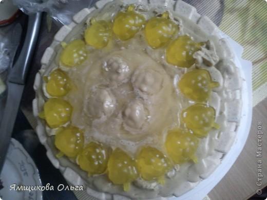 Всем привет!!! Много мастер-классов я пересмотрела и обработав их на свой лад решила сделать вот такой тортик!!! фото 18