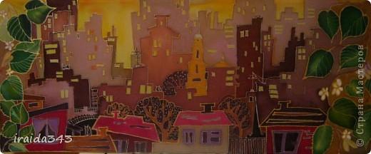 """Решили с девчонками на конкурс декоративно-прикладного искусства написать батик """"Мой город"""" фото 6"""