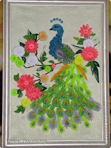 """Картина """"птица в цветах"""" фото 1"""