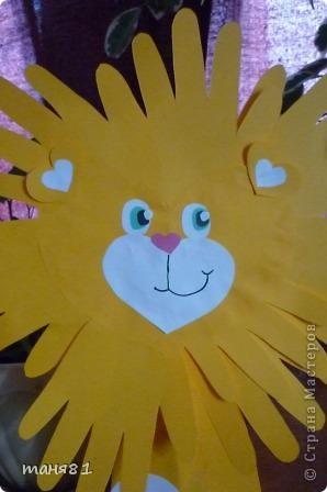 Вот таких львов мы сделали из сердечек. фото 3