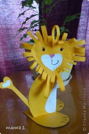 Вот таких львов мы сделали из сердечек. фото 4