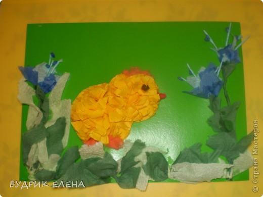 Этого цыпленка мы делали с детишками младшей группы