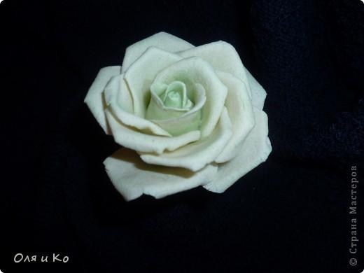 Хотела слепить зеленовато-белую розу. Вот что вышло. Посоветуйте, зеленого еще надо добавить или так оставить, а может зелени наоборот слишком много. Как быть? Ох, как я всегда мучаюсь с покраской((( Помогите... фото 1