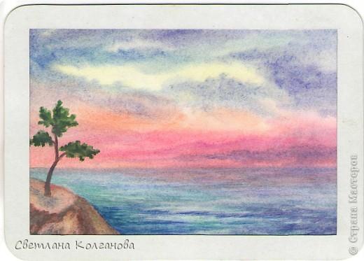 Рисунок гуашью для начинающих поэтапно небо
