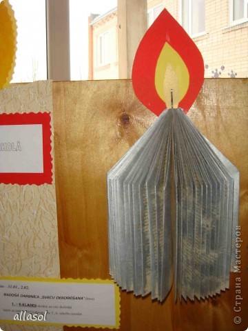 Я очень рада вернуться в любимую страну. В ближайшее время отвечу на все вопросы.   2 февраля в Латвии отмечали день свечей. В нашей школе тоже было много мероприятий. Эту свечу мы сделали на выставку. фото 6