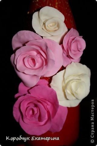 Розы на красном! фото 2