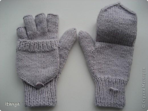 спицами Варежки-перчатки