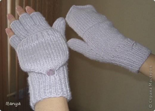 Эти варежки-перчатки мой дебют в вязании и варежек и перчаток. фото 2