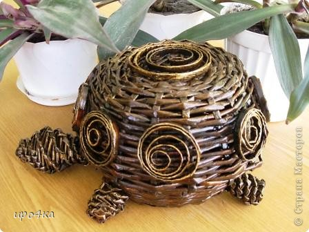 Идейка черепахи с чешского сайта, но украсила по своему. Вот что получилось. фото 1