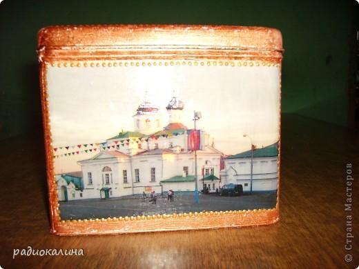 Арзамас - красивый и старинный городок, мне он очень нравится и мне захотелось попробовать выразить всю красоту его не только в собственных фотографиях, но и сделать из них шкатулку, чтобы можно было любоваться моим городом  держа ее в руках. Рассматривать с разных сторон. фото 4