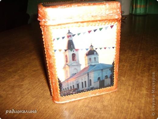Арзамас - красивый и старинный городок, мне он очень нравится и мне захотелось попробовать выразить всю красоту его не только в собственных фотографиях, но и сделать из них шкатулку, чтобы можно было любоваться моим городом  держа ее в руках. Рассматривать с разных сторон. фото 2