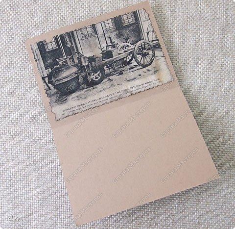 Vasil Dziashkouski hand made. На этой открытке пробовал приобретенные штампы, бижутерные мелочи, пуговицу, рафию.  Подкова - на счастье, смайлик - на радость, пуговица как запасная (вдруг потеряется), а ключик от сейфа, где деньги лежат :) фото 3