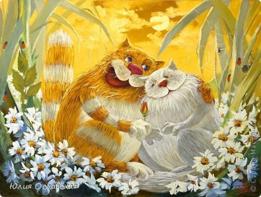 На это панно меня вдохновил замечательный художник Антон Горцевич, у него замечательные картины котов и не только)) фото 3