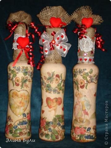 Бутыки- подарки на день Валентина приятным, хорошим людям фото 1