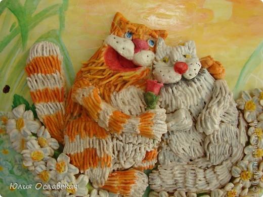 На это панно меня вдохновил замечательный художник Антон Горцевич, у него замечательные картины котов и не только)) фото 2