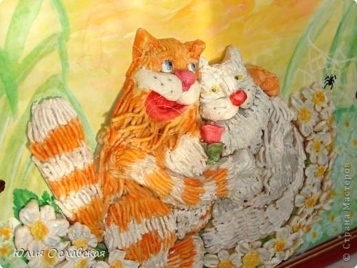 На это панно меня вдохновил замечательный художник Антон Горцевич, у него замечательные картины котов и не только)) фото 5