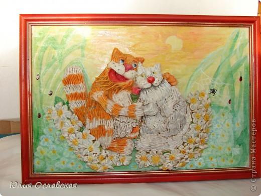 На это панно меня вдохновил замечательный художник Антон Горцевич, у него замечательные картины котов и не только)) фото 1