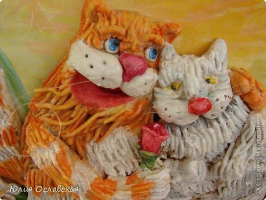 На это панно меня вдохновил замечательный художник Антон Горцевич, у него замечательные картины котов и не только)) фото 4