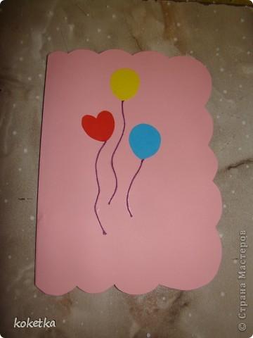Открытка и тортик для новорожденной малышки. фото 4