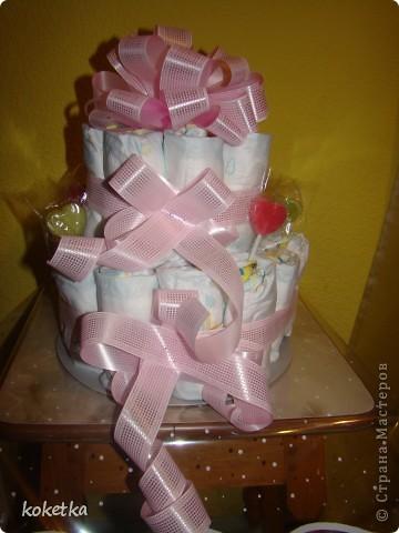 Открытка и тортик для новорожденной малышки. фото 2