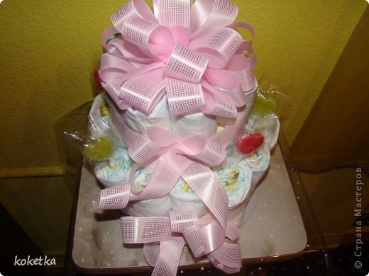 Открытка и тортик для новорожденной малышки. фото 3
