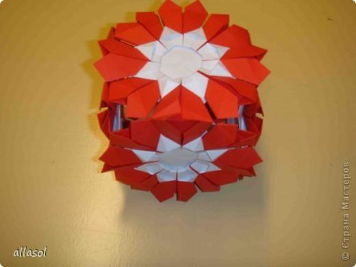 Сделала образцы для кружка.   Кусудамы (кроме одной) выполнены на основе классической кусудамы.  фото 19