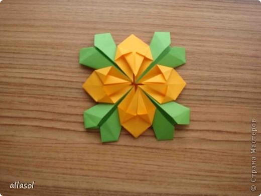 Сделала образцы для кружка.   Кусудамы (кроме одной) выполнены на основе классической кусудамы.  фото 8