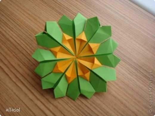 Сделала образцы для кружка.   Кусудамы (кроме одной) выполнены на основе классической кусудамы.  фото 9