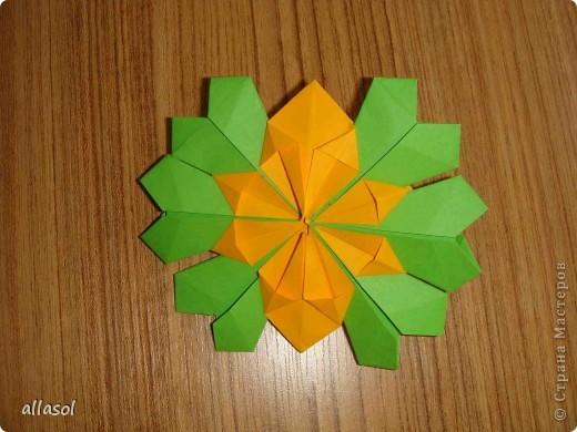 Сделала образцы для кружка.   Кусудамы (кроме одной) выполнены на основе классической кусудамы.  фото 11